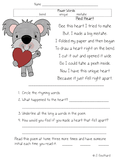 Fluency, Comprehension, & Vocabulary Packets