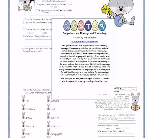 Easter Fluency