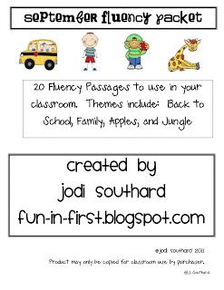 September Fluency Packet