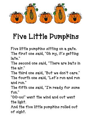 Five Little Pumpkins - Fun in First