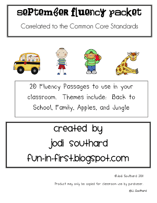 Fluency Passages meet Common Core