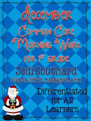 Common Core Morning Work for December