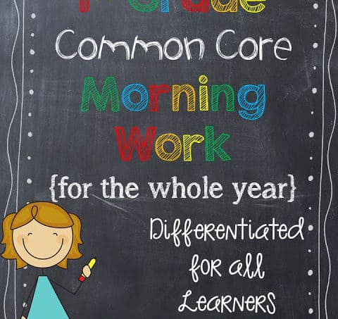 Common Core Morning Work for the ENTIRE year!!