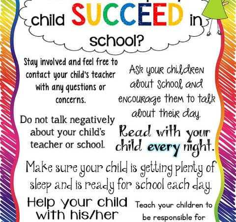 Tips for Parents…How to Help My Child Succeed