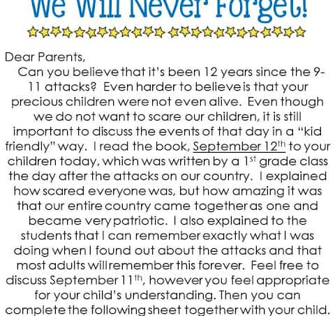 A September 11th Freebie & How I Handle Homework