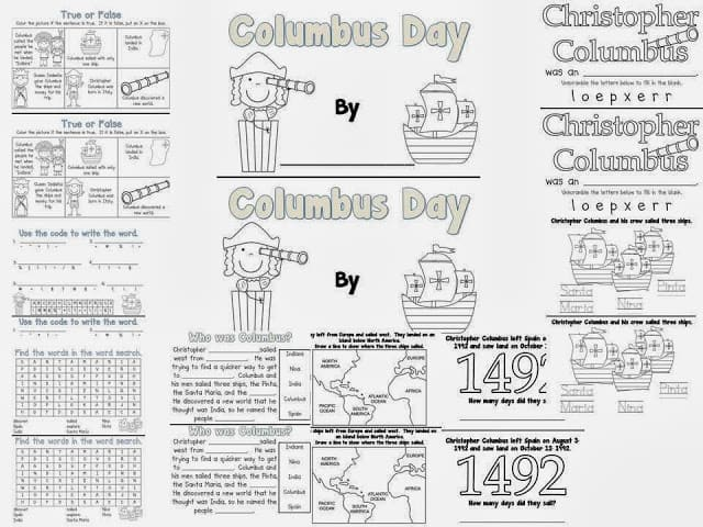 Free Columbus Day Prehension Worksheets Worksheet Templates – Columbus Day Worksheets