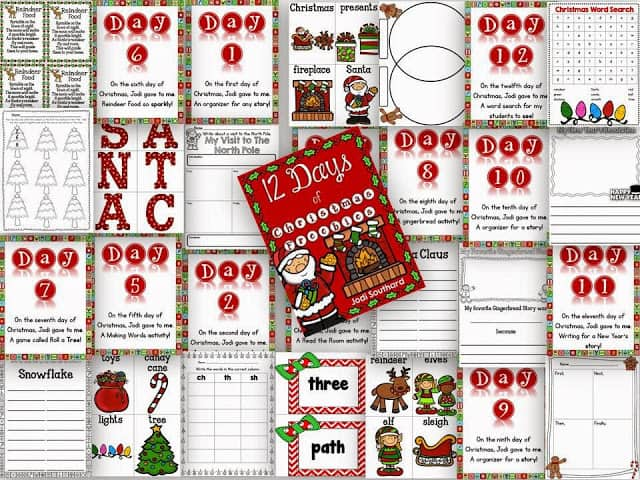 http://www.teacherspayteachers.com/Product/12-Days-of-Christmas-Freebies-1019890