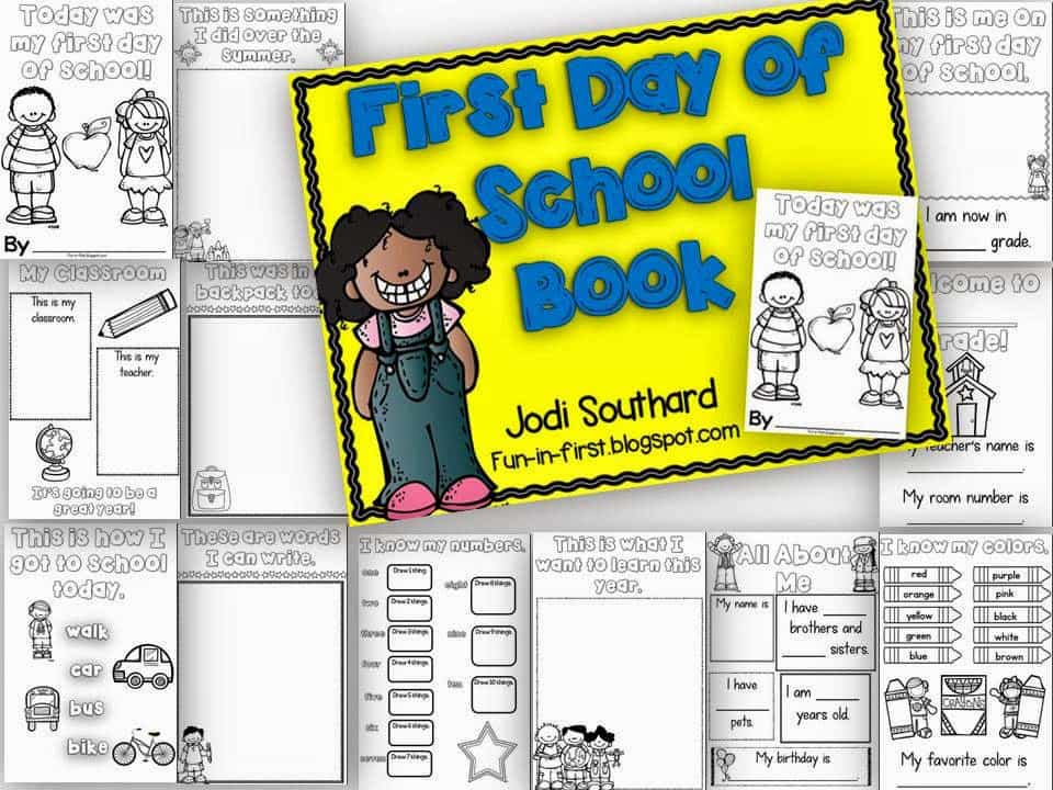 http://www.teacherspayteachers.com/Product/First-Day-of-School-Book-139405