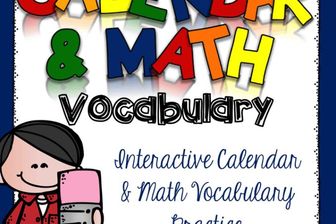Daily Calendar and Math Vocabulary