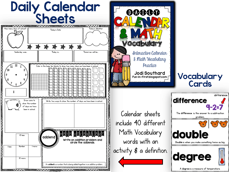 Calendar Activities For First Grade : Daily calendar activities for first grade math journals