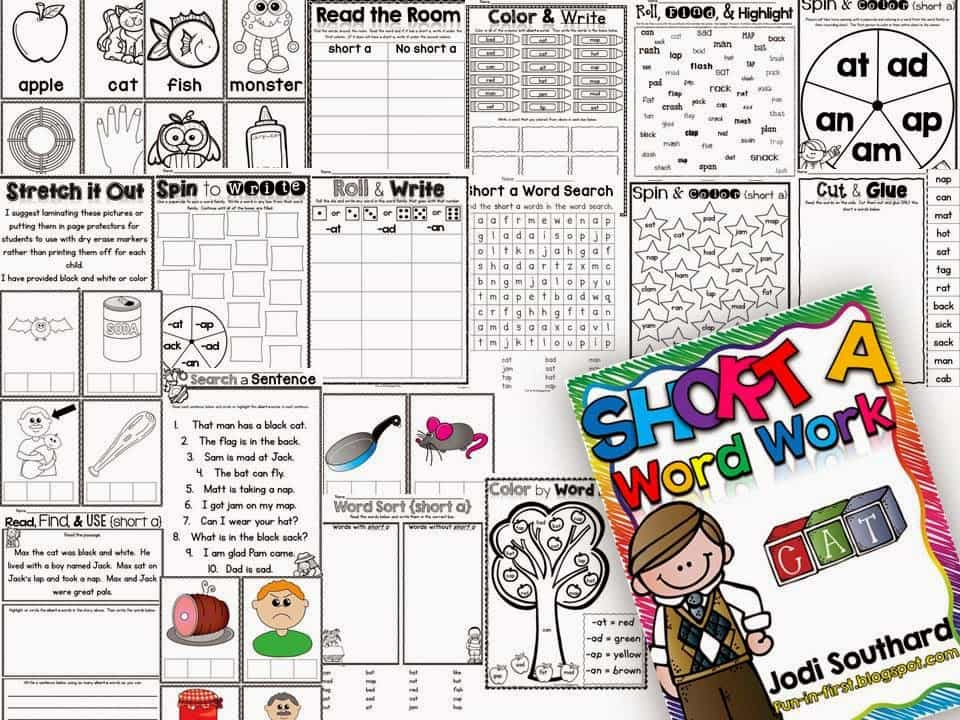 http://www.teacherspayteachers.com/Product/Word-Work-with-Short-a-1410237