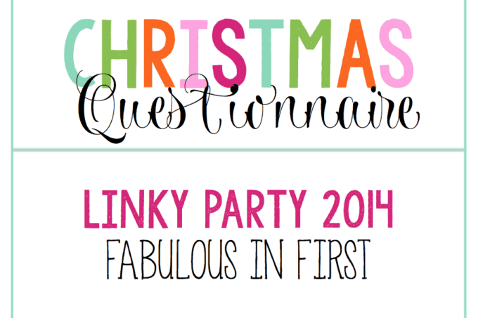 Christmas Questionnaire Linky Party