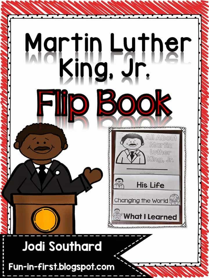 Martin Luther King, Jr. Flip Book FREEBIE - Fun in First