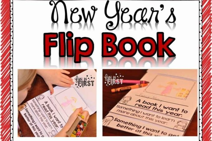 A New Years Flip Book, a Freebie, & a Word Work Packet
