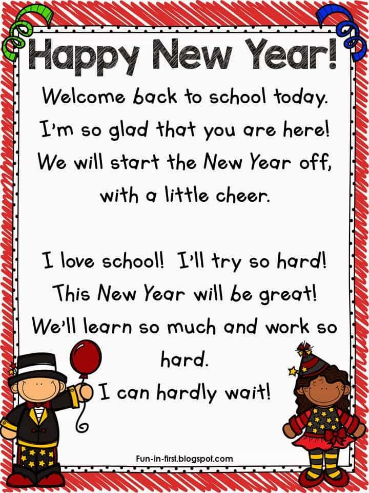 http://www.teacherspayteachers.com/Product/New-Years-Poem-Freebie-1629163