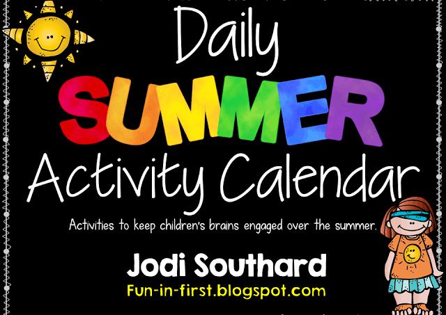 Summer Activity Calendar {FREEBIE}