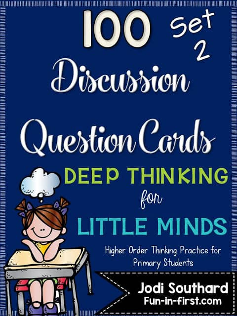 https://www.teacherspayteachers.com/Product/Discussion-Question-Cards-Deep-Thinking-for-Little-Minds-SET-2-2273579
