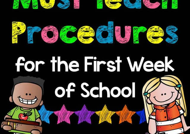 Procedures for the 1st Week of School
