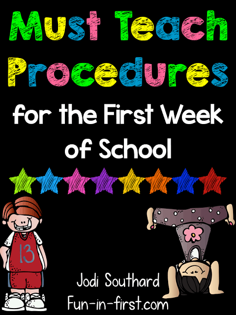 https://www.teacherspayteachers.com/Product/Procedures-to-Teach-on-the-First-Day-of-School-Freebie-1350637