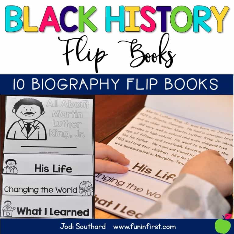 Black History Flip Books - Contains 10 Biographical Flip Books and Comprehension Questions