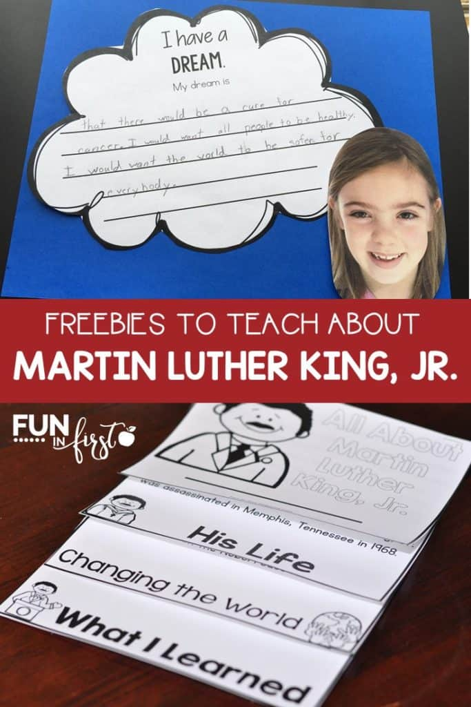 Freebies to teach about Martin Luther King, Jr.