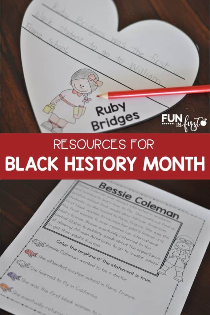 These are great resources for teaching about black history.