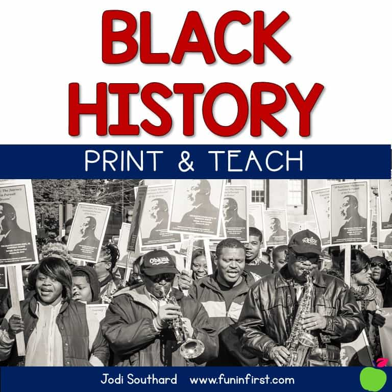 This Print & Teach packet is perfect for Black History month.