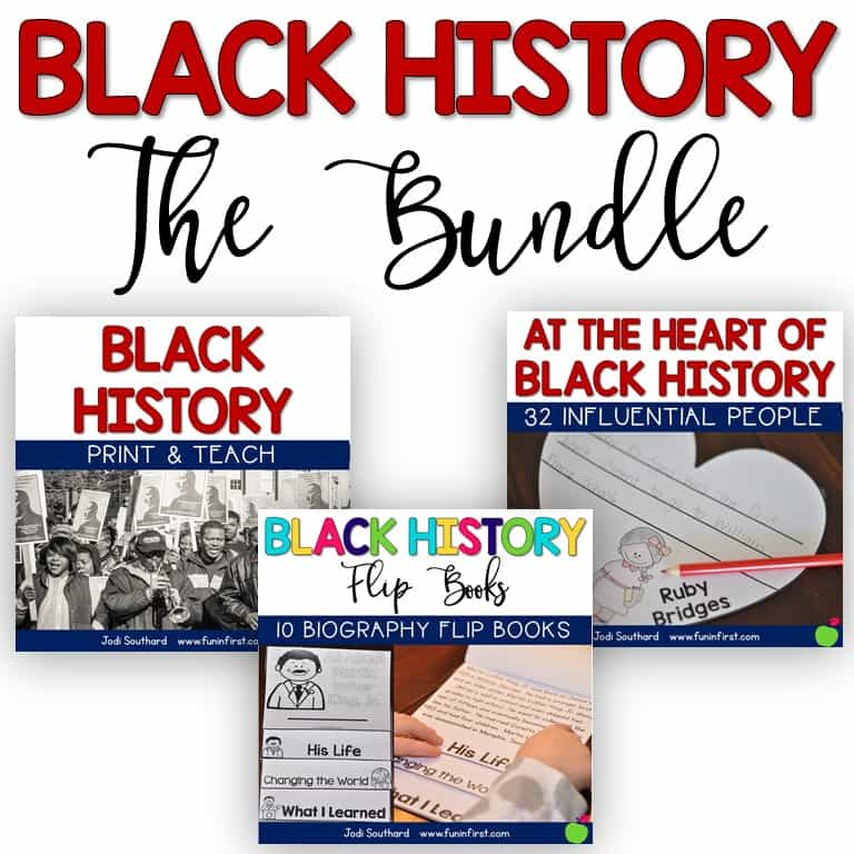This is a great bundle of items to use while teaching about black history.