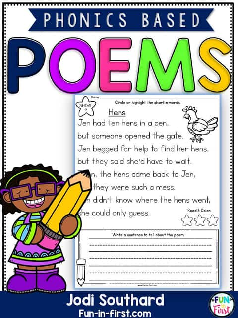 https://www.teacherspayteachers.com/Product/Phonics-Based-Poems-2527147