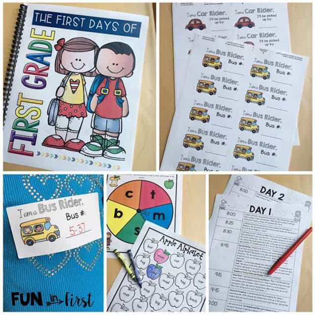 Are you a new 1st grade teacher or do you just need some fresh and new ideas for the first week of 1st grade? This First Week of First Grade includes everything you need to have a successful first week of first grade.