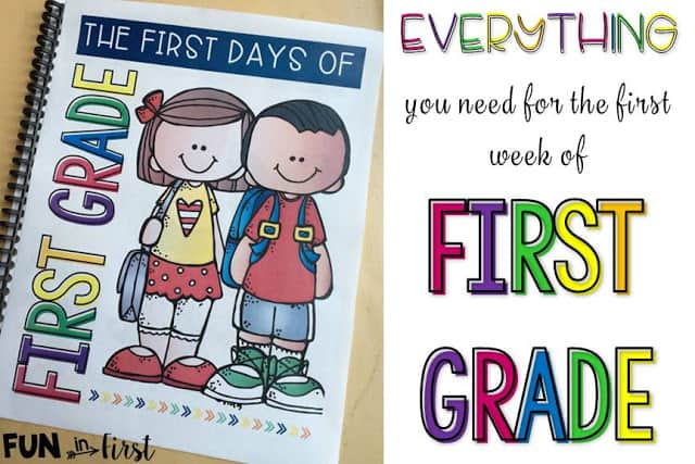 Everything You Need for the First Week of First Grade