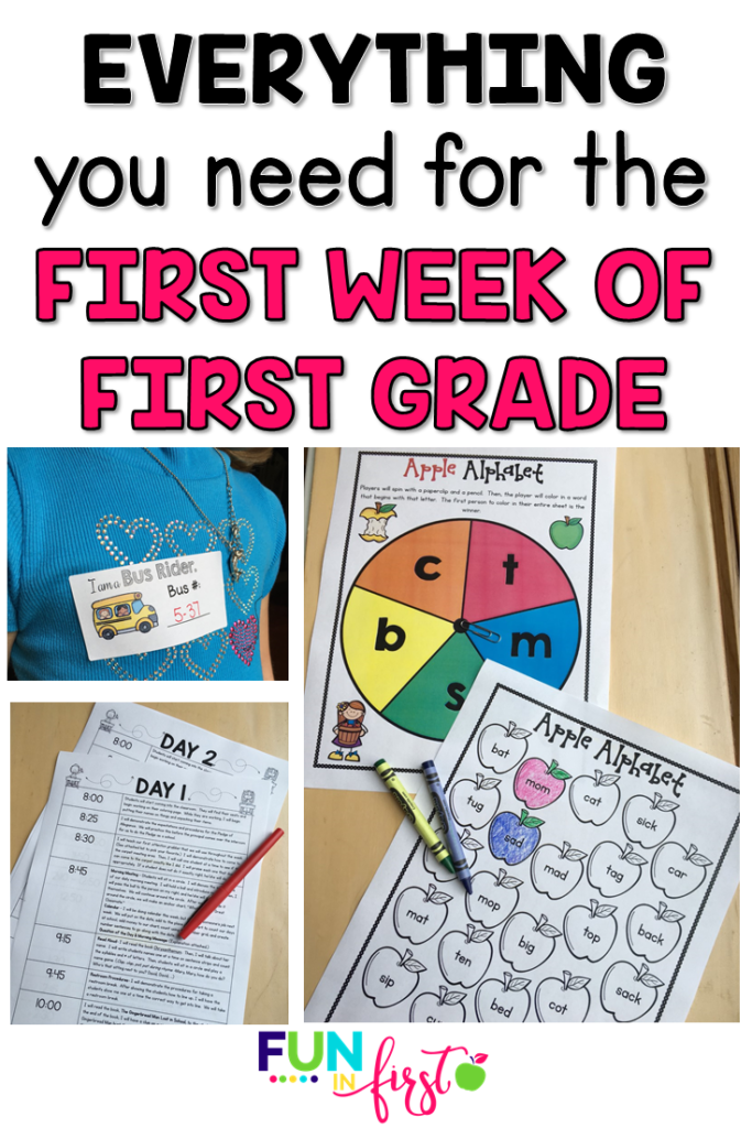 Are you a new 1st grade teacher or do you just need some fresh and new ideas for the first week of 1st grade? This First Week of First Grade includes everything you need to have a successful first week of first grade.  Welcome letters, editable lesson plans, open house information and ideas, printables for morning work, seat work, phonics and math practice, fun and engaging activities, and more.