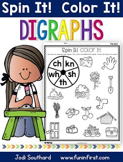 https://www.teacherspayteachers.com/Product/Digraphs-Spin-It-Color-It-2632227