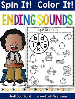 https://www.teacherspayteachers.com/Product/Ending-Sounds-Spin-It-Color-It-2632221