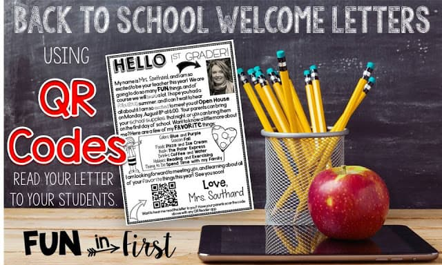 Welcome Back to School Letters by Fun in First