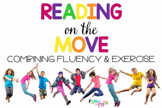 Reading on the Move is an amazing way to combine reading fluency and exercise. Your students will LOVE it!