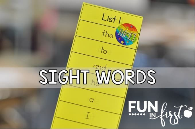 Sight Words Archives - Fun in First