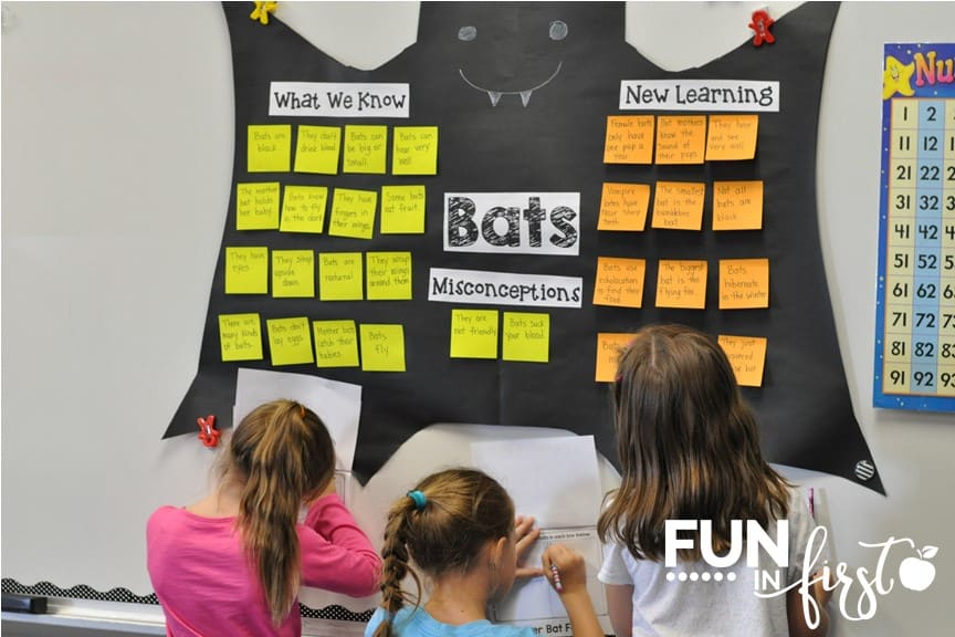 Students will love these bat ideas and activities from Fun in First.