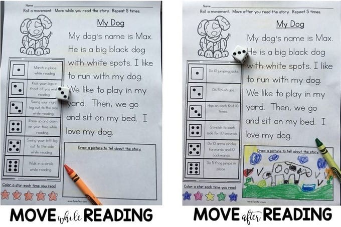 Reading on the Move is the perfect way to combine reading fluency and exercise.