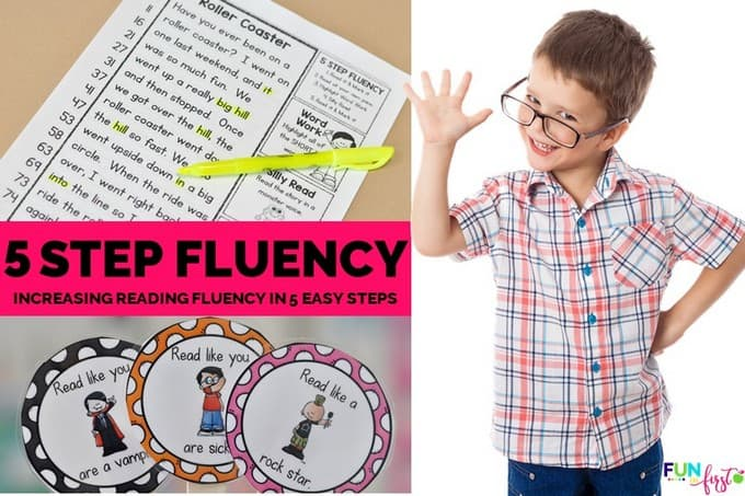 Increasing Reading Fluency in 5 Easy Steps by Jodi Southard @ Fun in First