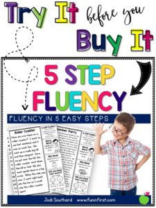 Try It Before You Buy It - 5 Step Fluency Sampler from Jodi Southard @ Fun in First