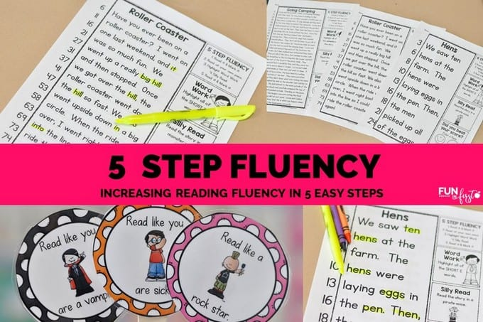 5 Step Fluency - Increasing Reading Fluency in 5 Easy Steps