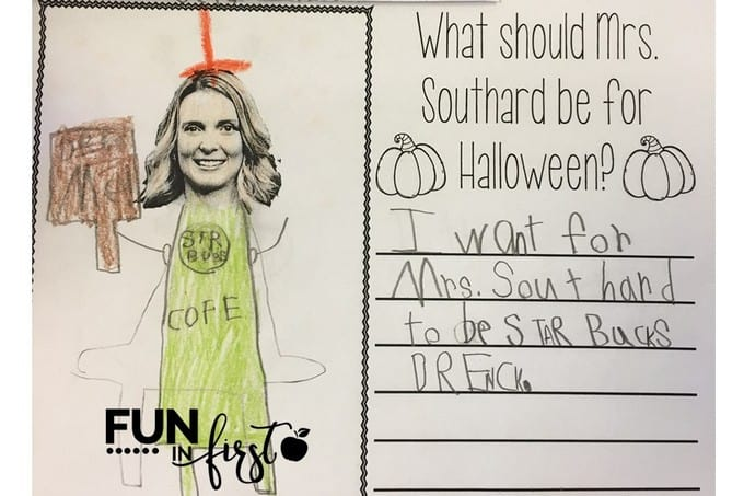 What should my teacher be for Halloween? Writing Activity from Fun in First