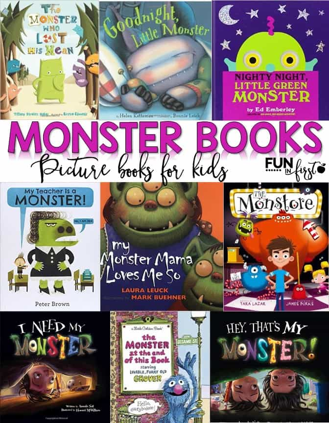 Monster themed books for kids