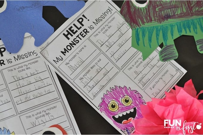 Monster themed activities for the classroom from Fun in First
