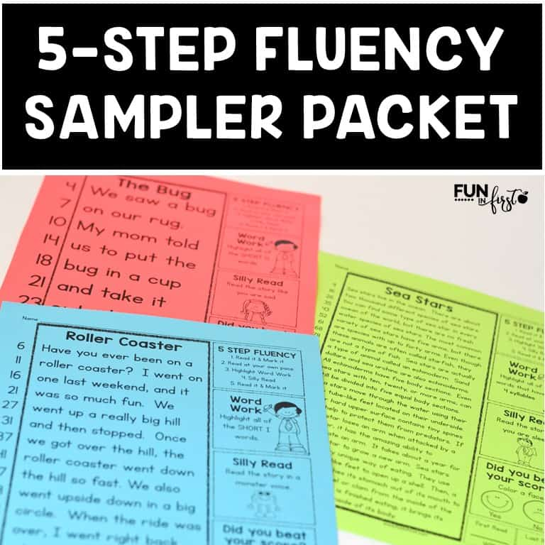 This FREE 5-Step Fluency Sampler Packet allows you to try it before you buy it.
