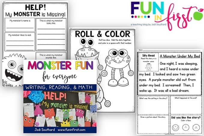 Monster Fun for Everyone activities from Fun in First