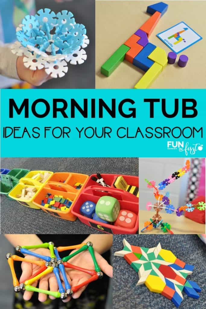 Morning Tubs has become one of my students favorite times of the school day.  Here are so many ideas of things to place into your morning tubs.