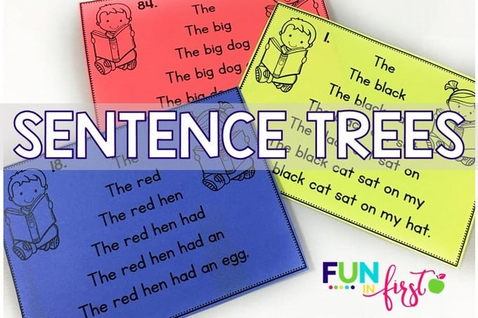 Sentence Trees are a great way to give your beginning readers confidence in their reading skills.