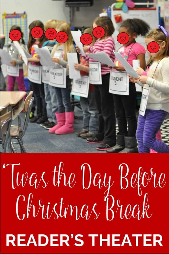 This 'Twas the Day Before Christmas Break Reader's Theater is a great way to allow your students to perform for others the week before Winter Break.